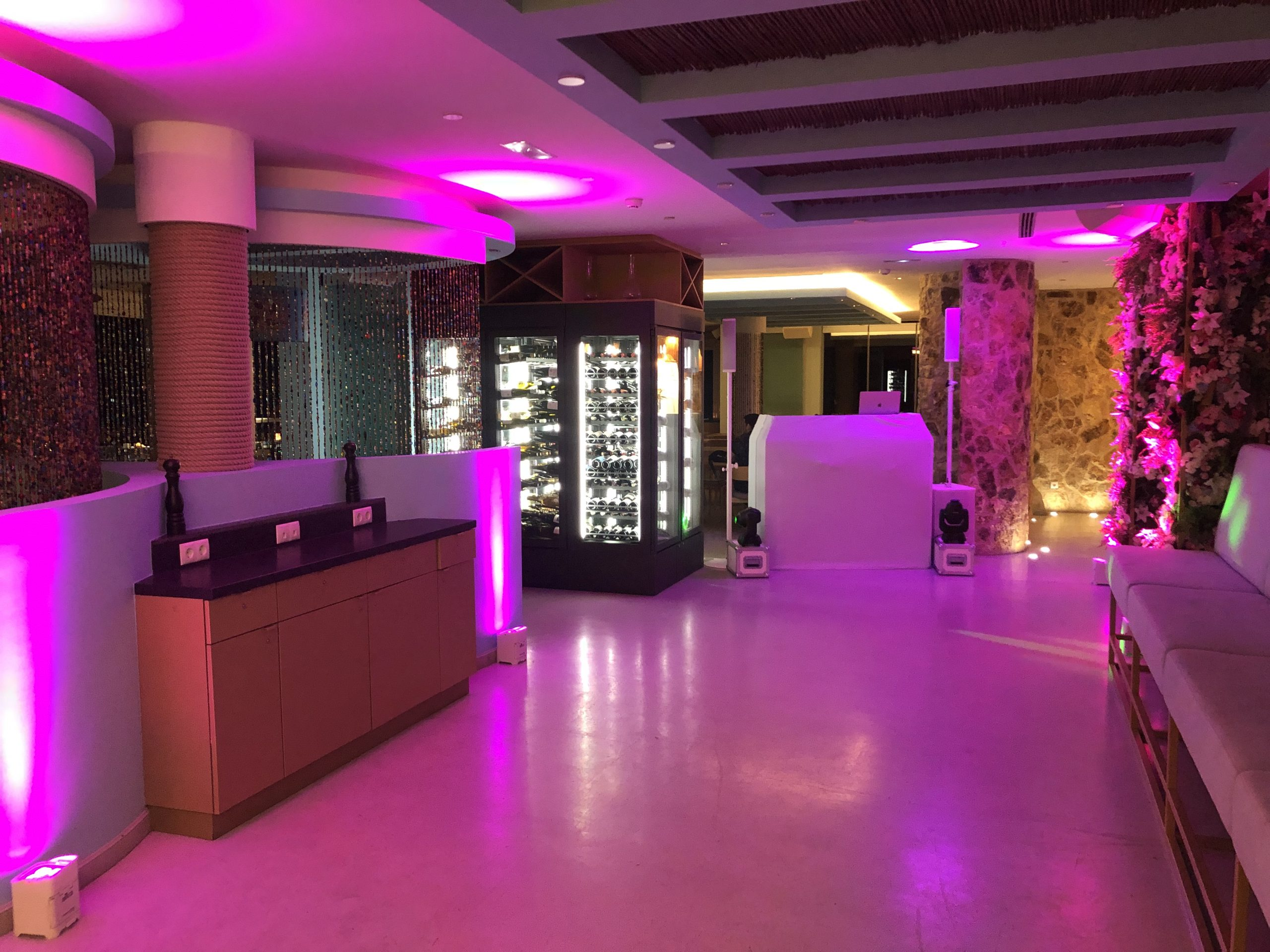 Ibiza wedding speaker and sound system hire for weddings at 7pines.