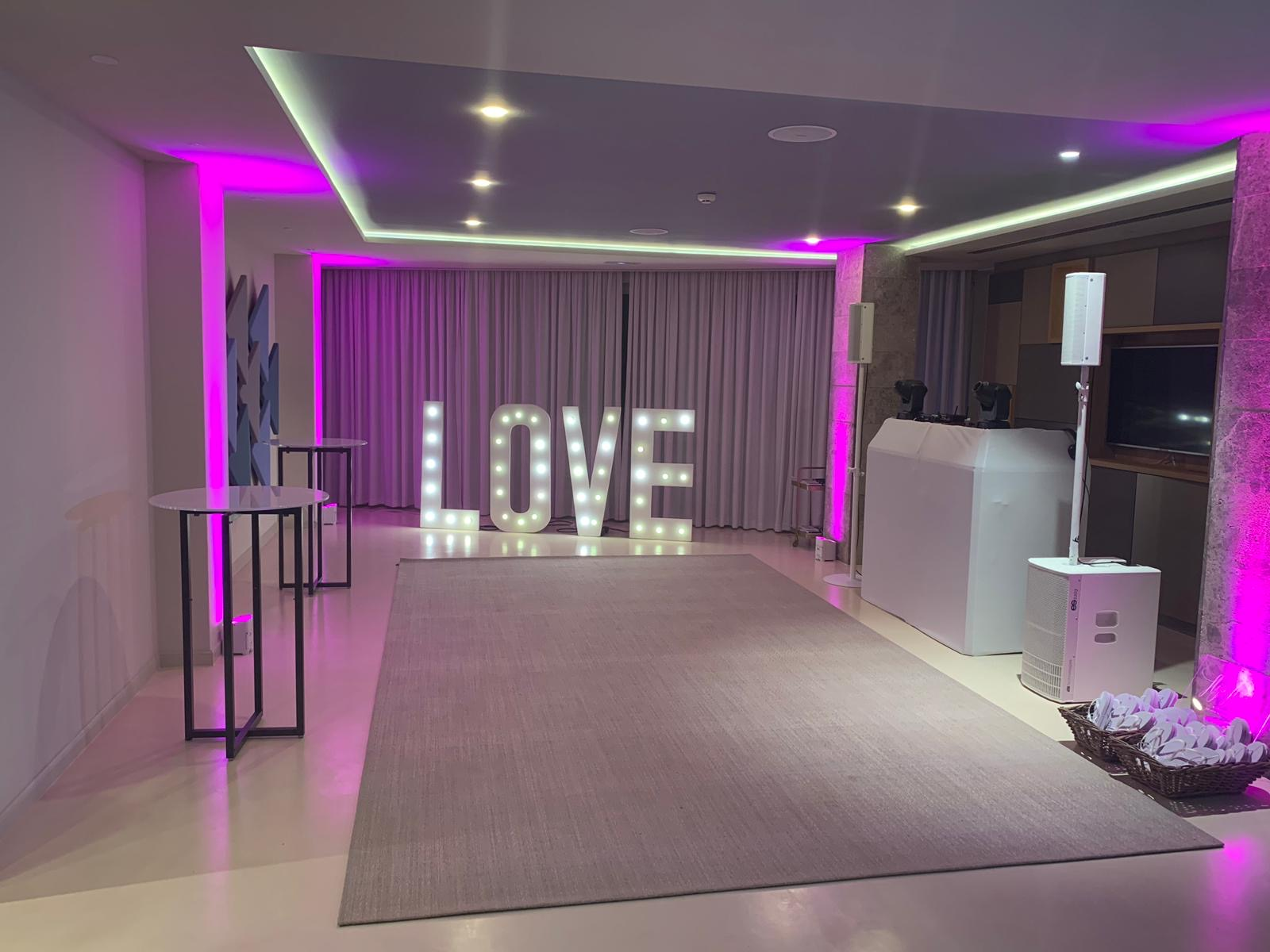 Ibiza wedding equipment hire for weddings at 7pines.